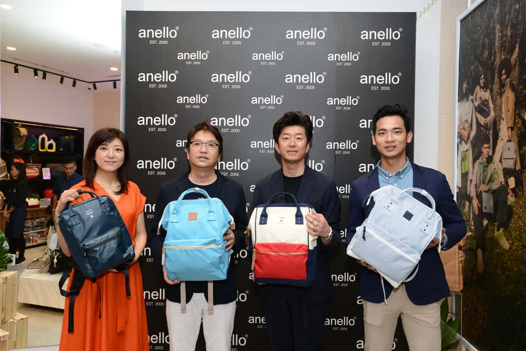 Carrot Company senior executives at the opening of anello® at Jewel Changi Airport Singapore