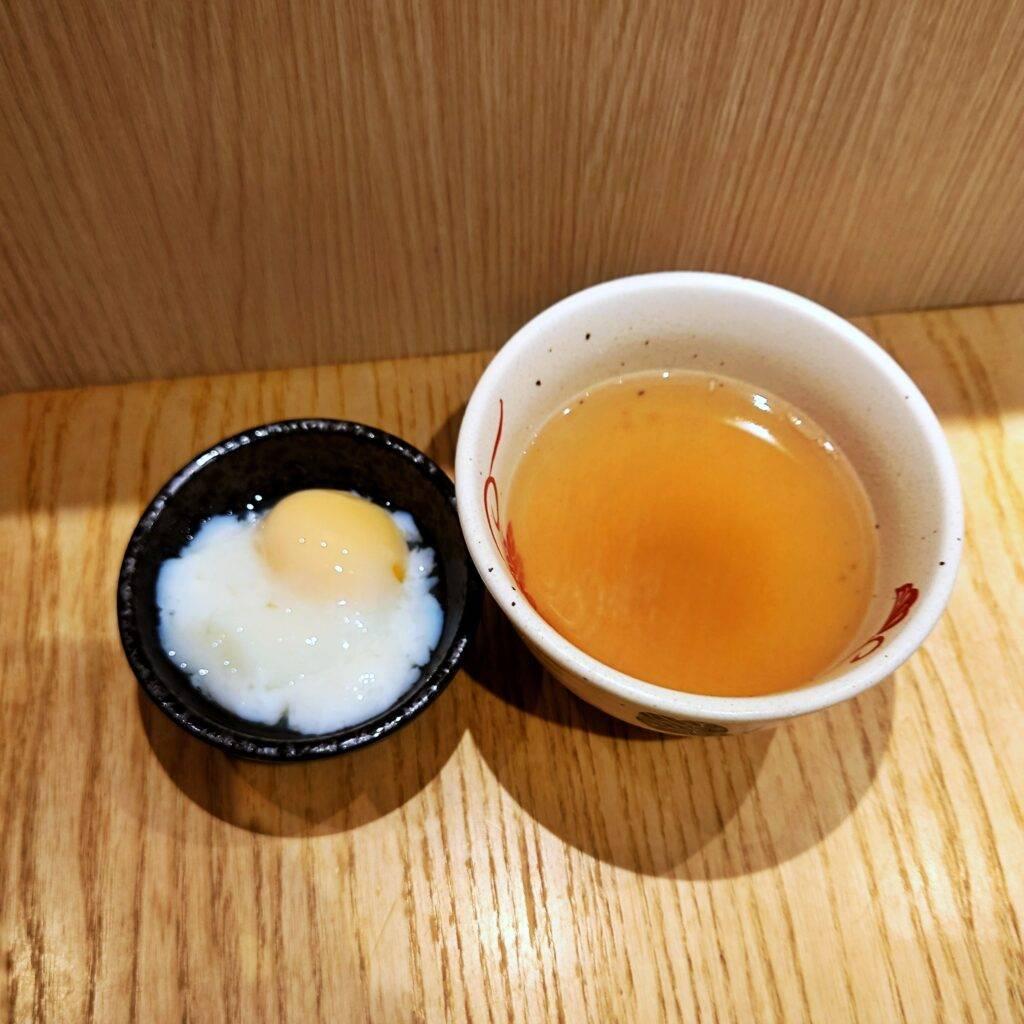 Dashi soup and Ontama